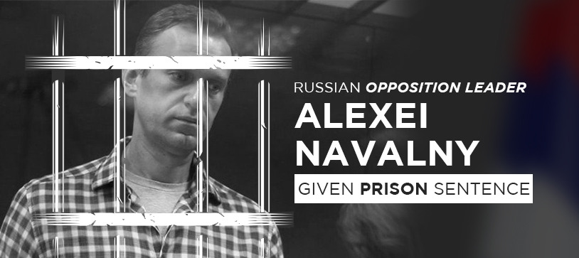 Russian Opposition leader Alexei Navalny given prison sentence