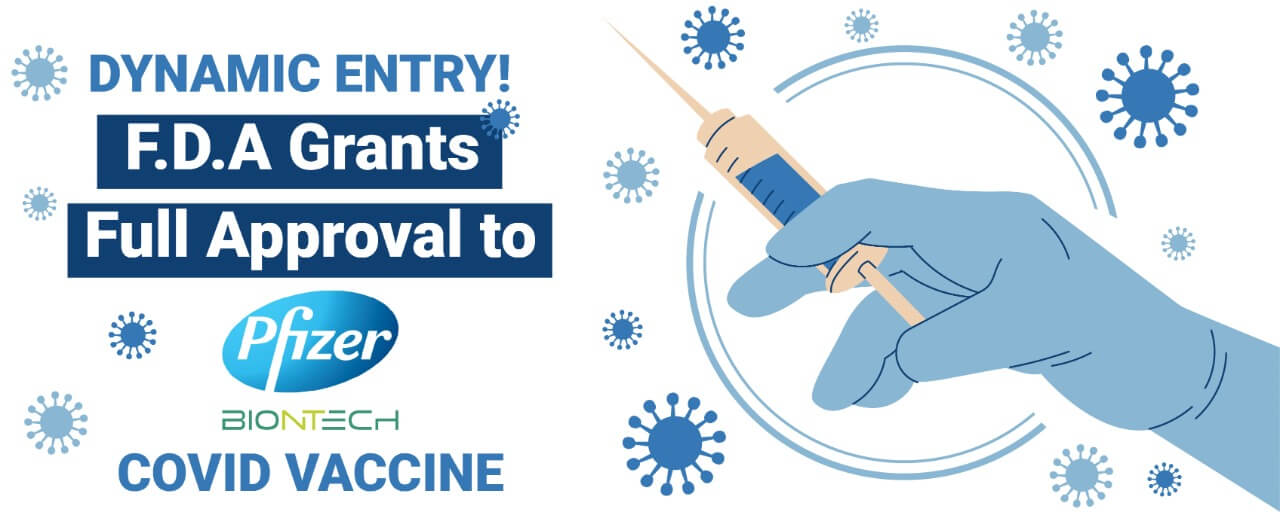 Dynamic Entry! F.D.A Grants Full Approval to Pfizer-BioNTech Covid Vaccine